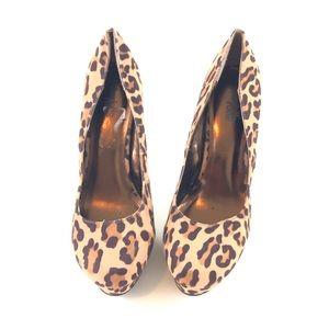 Charlotte Russe Women's Leopard Print Heels 10